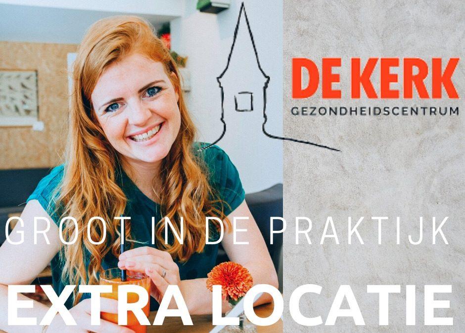Nieuwe locatie in Gezondheidscentrum De Kerk Spierdijk